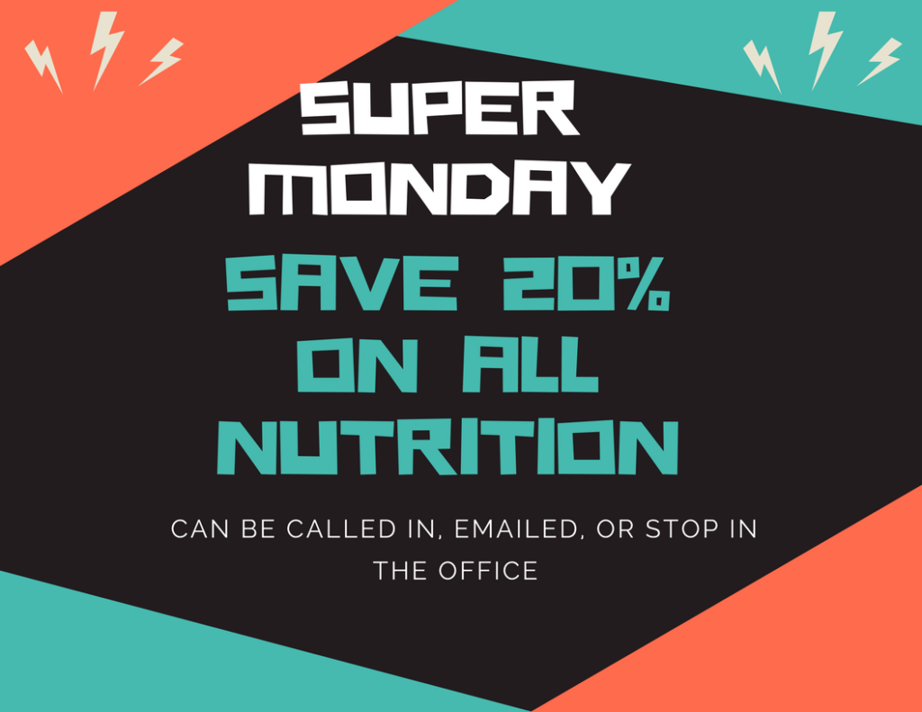 Save 20% on all supplements Nov 6th