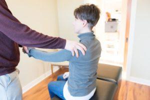 Chiropractic adjustments for shoulder