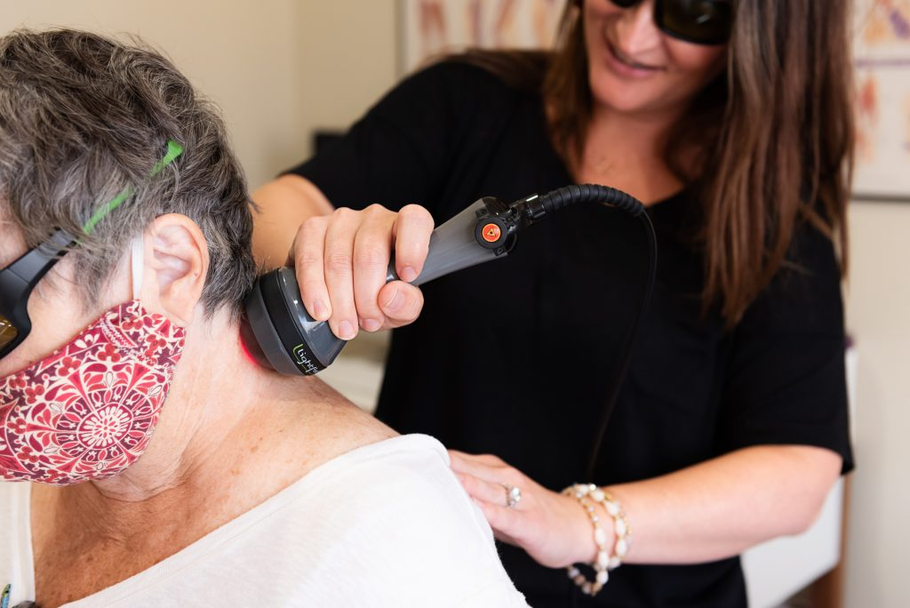 Laser Therapy for neck pain in St. Peter, MN-Rising Sun Chiropractic + Weight Loss